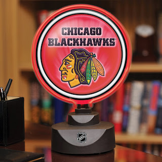 Chicago Blackhawks NHL Neon Disc Lamp