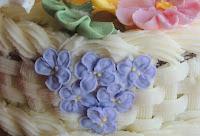 Tarta de Flores: Violetas
