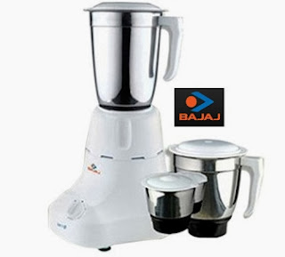 Bajaj Gx 3 Mixer Grinder 450 Watts worth Rs.2935 for Rs.1789 Only at Rediff (Lowest Price)