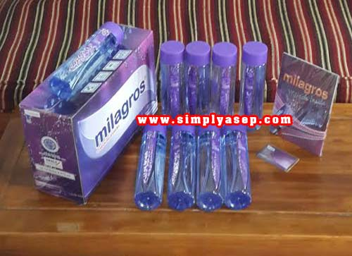 1 Dus Milagros isi 12 botol lengkap dengan Buku Panduan dan Member card anda.  Foto hak cipta Asep Haryono