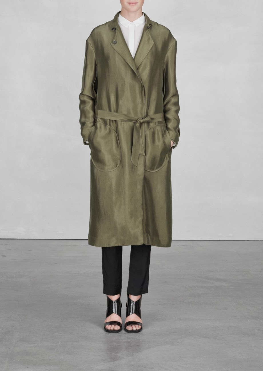long khaki coat