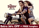 Myntra: Get Extra 38% OFF + Sunglasses on Roadster