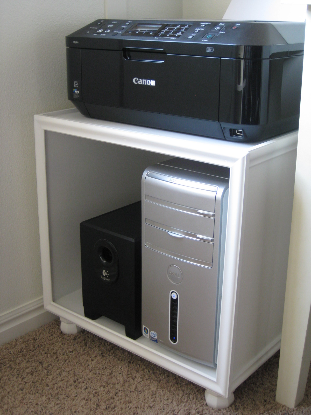TDA decorating and design: DIY Printer/Hard Drive Storage Stand ...