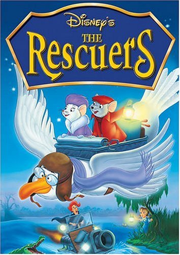 DVD cover The Rescuers 1977 animatedfilmreviews.blogspot.com