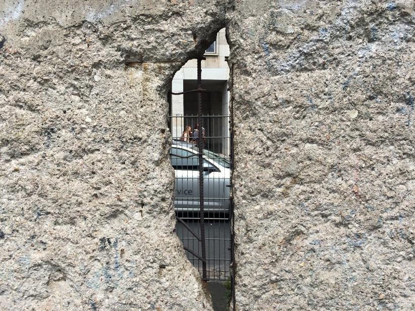 look through berlin wall
