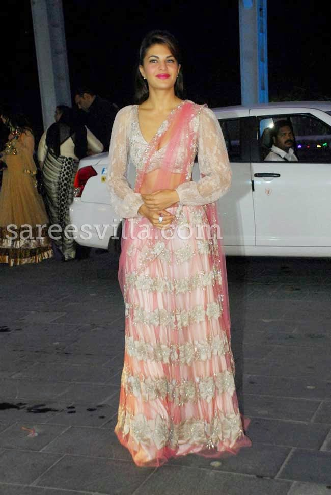 Actress Jacqueline Fernandez In Shehla Khan's Lehenga