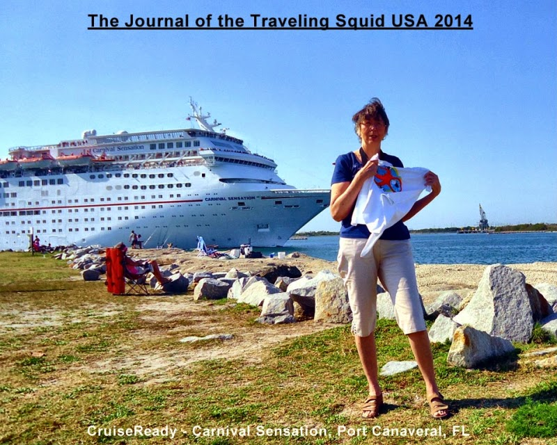 CruiseReady Sheila Carnival Sensation traveling squid USA