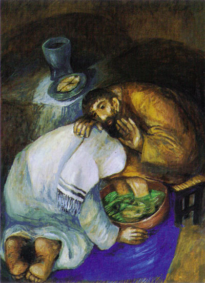 Sieder Kodeer - Art in Lent: the washing of the feet dans immagini sacre Sieger+Koder+Jesus+washing+feet