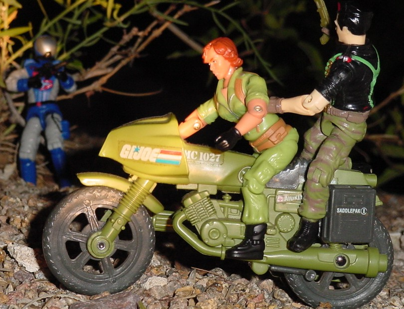 2006 Lady Jaye Comic Pack, 1982 RAM, Funskool Flint, 2003 Swamp Viper, Convention Exclusive