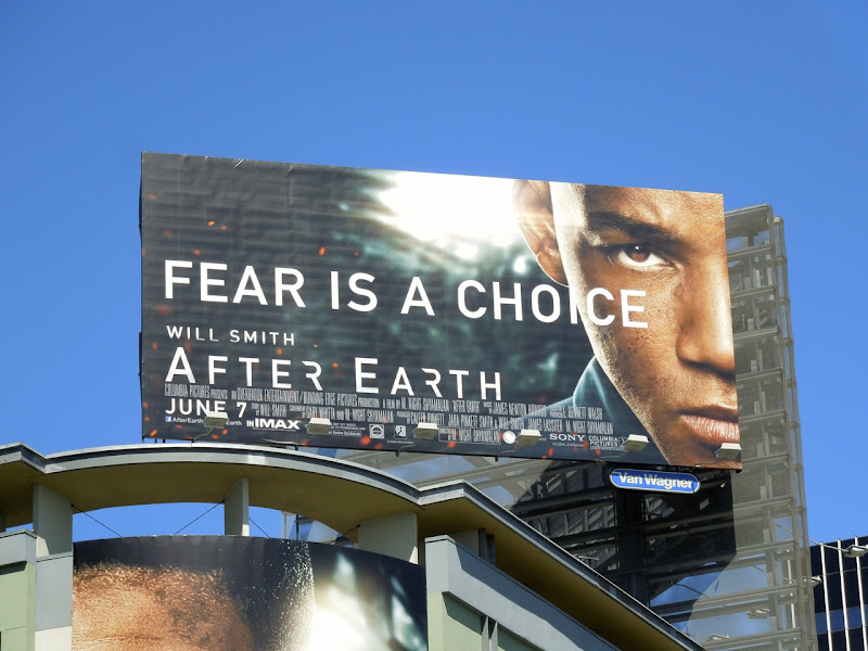 After Earth Fear is a choice billboard