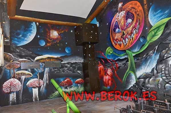 Graffiti mural calabaza