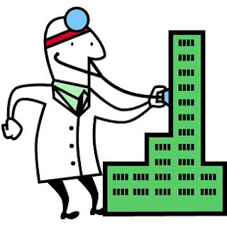 Do you think that a building can be sick?, clipart