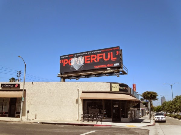 The Normal Heart Powerful HBO 2014 Emmy billboard