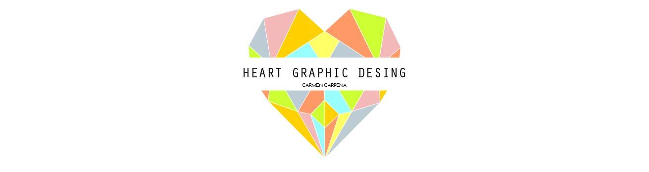 Heart diseño gráfico y papelería