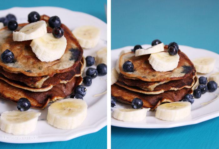 Luloveshandmade: Recipe: Blueberry-Banana Pancakes.