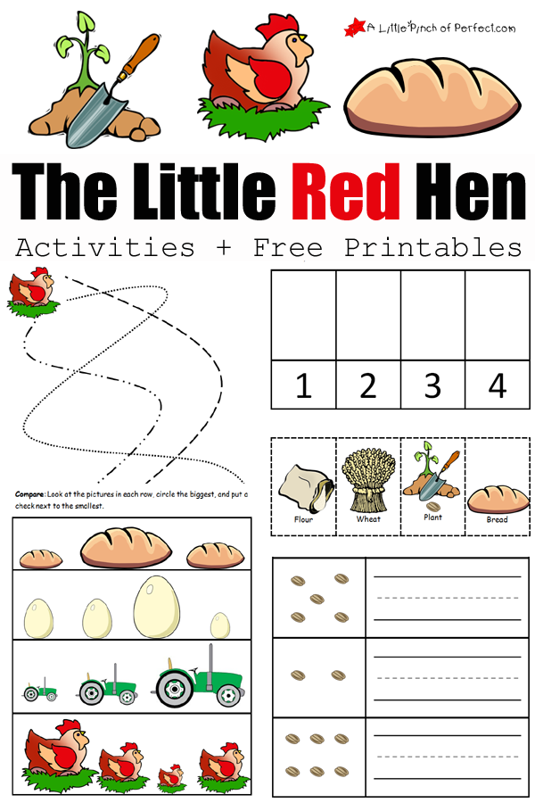 The Little Red Hen Activities And Free Printables