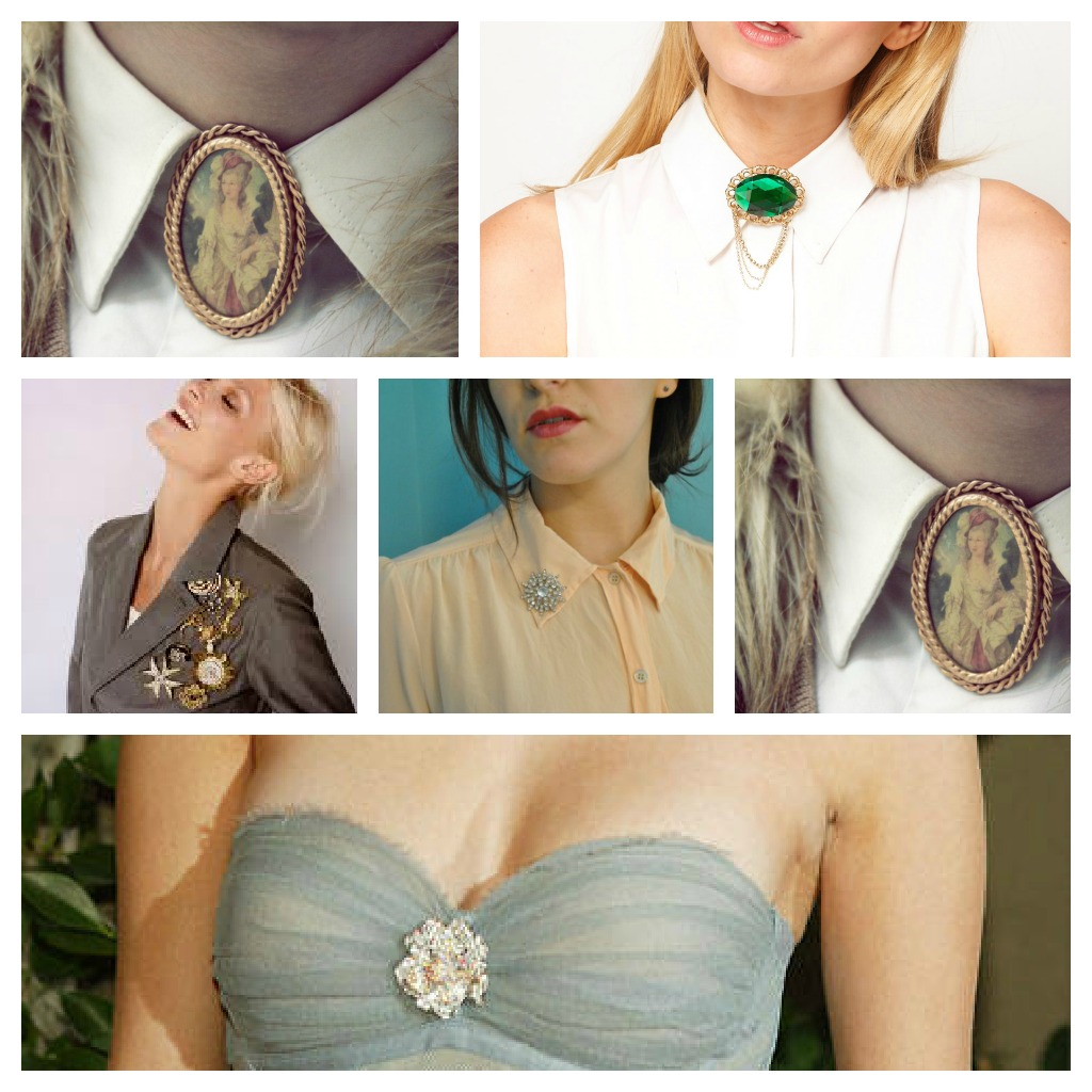 style notes how to wear vintage brooches