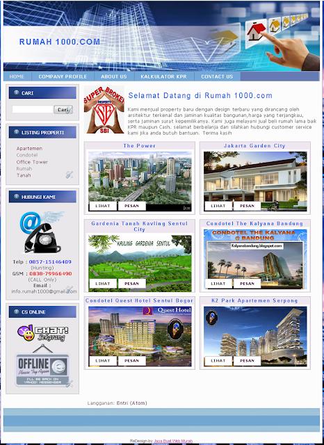 Jasa Pembuatan Website Iklan Properti