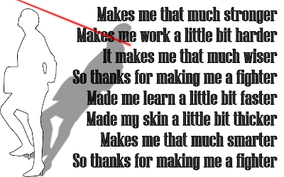 Fighter - Christina Aguilera Song Lyric Quote in Text Image