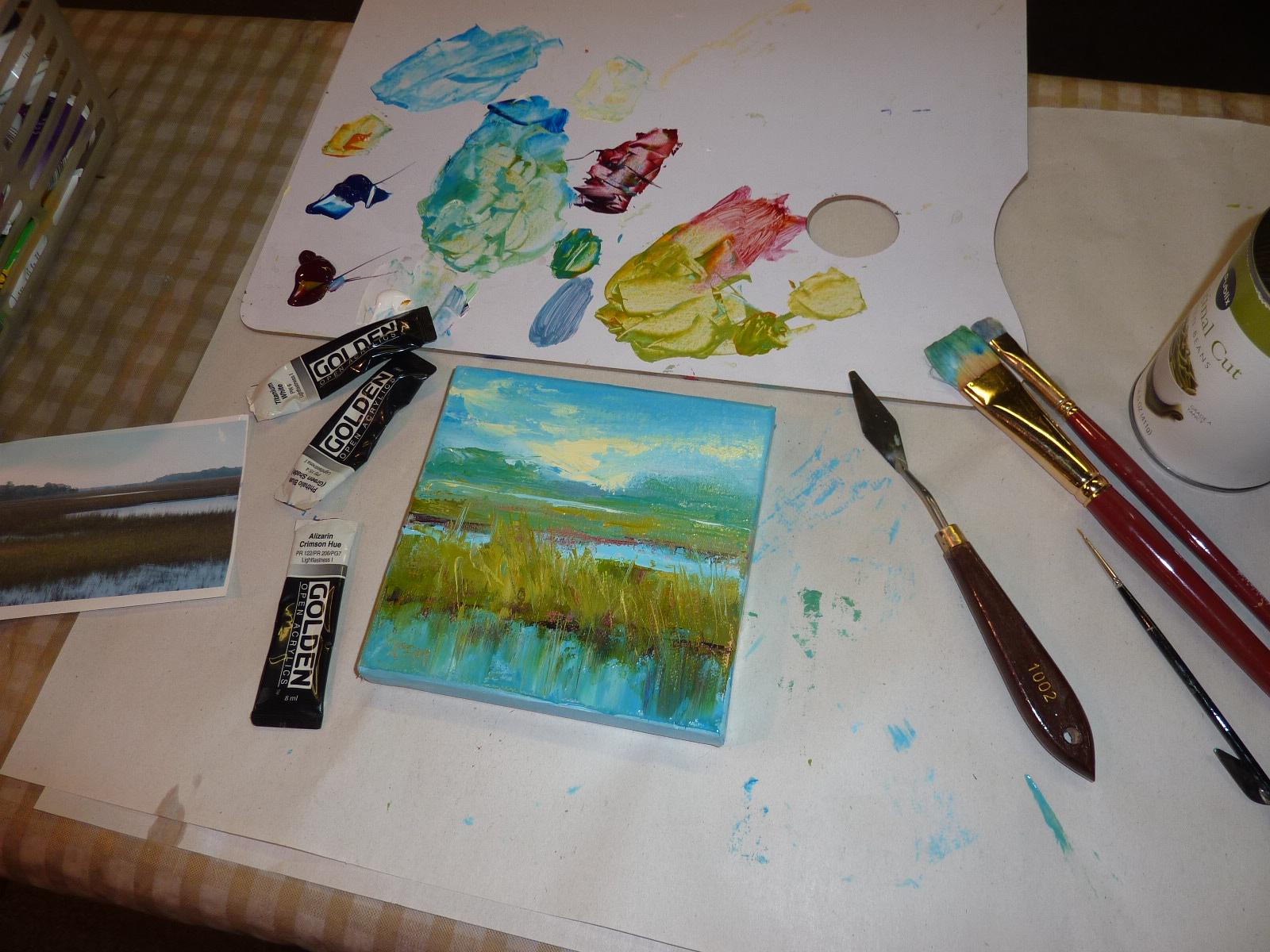 Golden Open Acrylics Painting