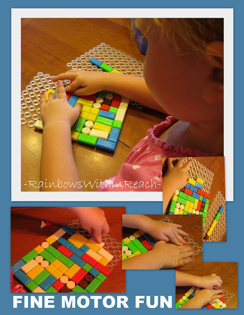 photo of: Fine motor patterns in art, fine motor development for children