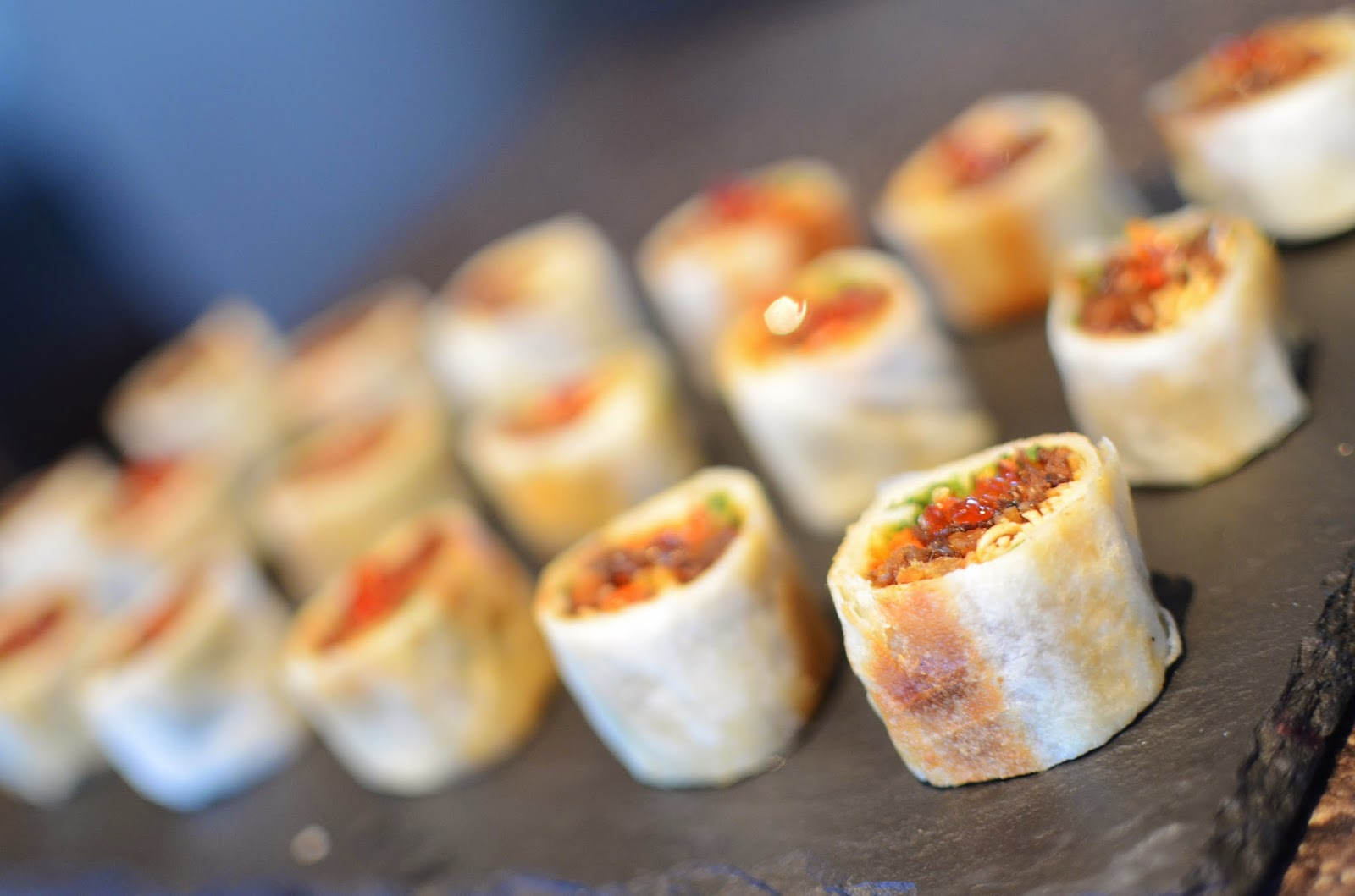 Private birthday dinner party paula and brian friends for Paula deen mushroom canape