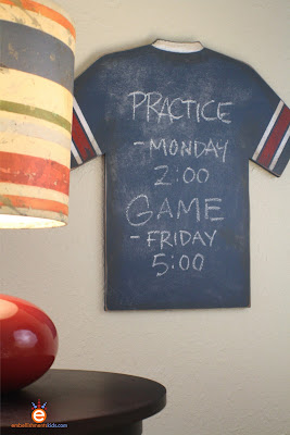 chalkboard, DIY chalkboard, sports, decor, jersey, by Aaron Christensen