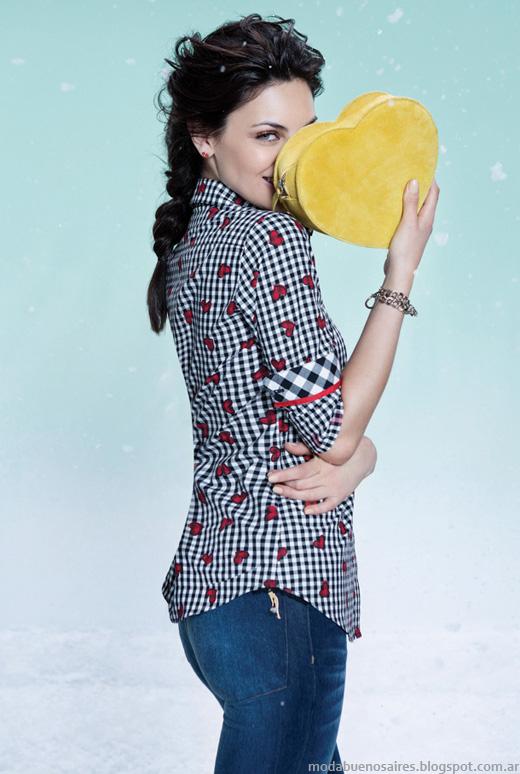 Las Oreiro otoño invierno 2014 camisas de mujer invierno 2014.