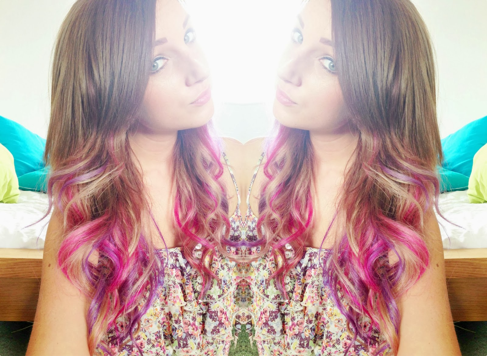 Ombre Hair Pink And Purple The ends of my ombre hair