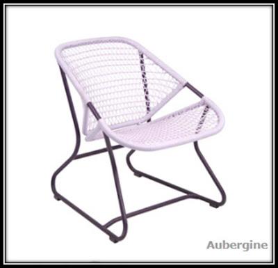 Chaise retro sixties jardin Fermob