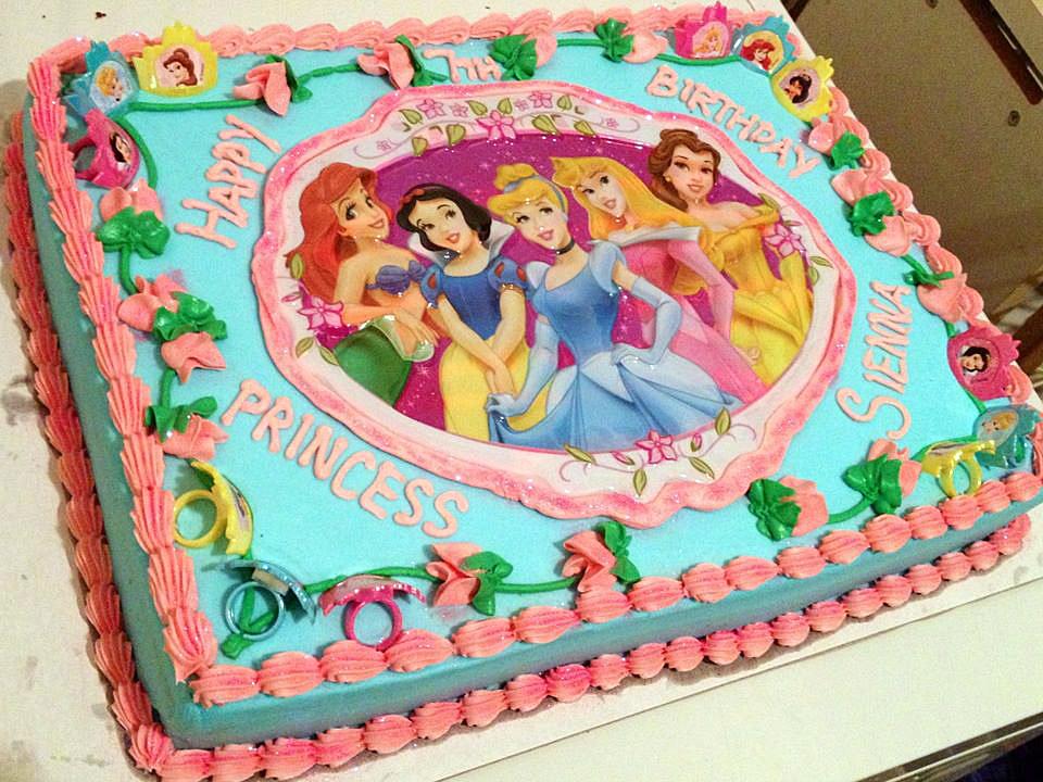 Disney Princess Birthday Cake Images Disney princess cake placs