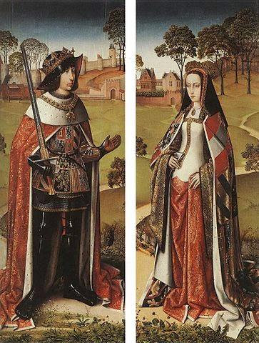 Felipe el Hermoso y Juana la  Loca obra del artista con pseudónimo de Maestro de la Secuencia de José
