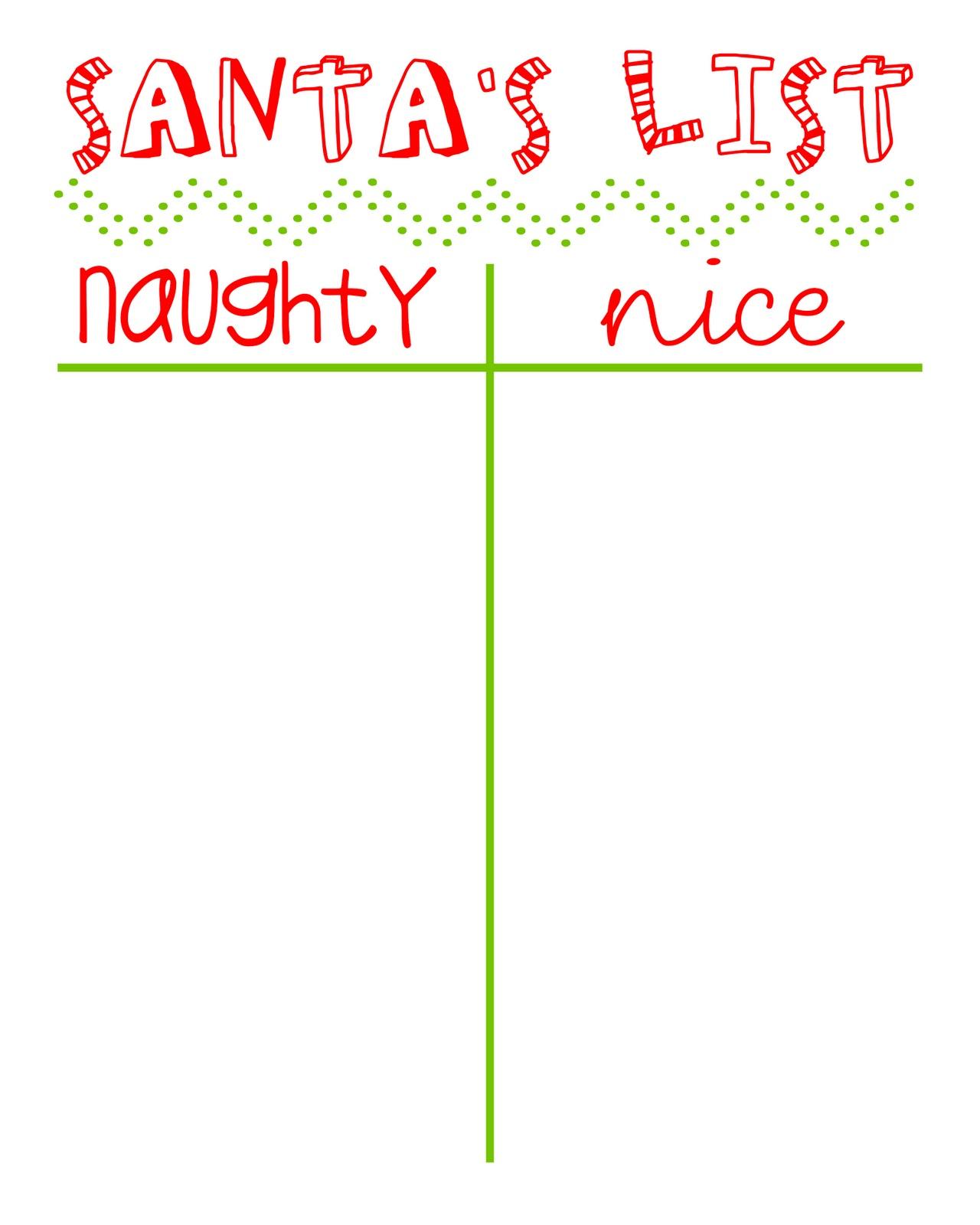 Santas Good And Bad List For Kids