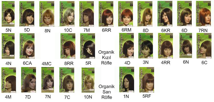 Organic Natural Colors Saç Boyası Renkleri Natural Colors Saç Boyası
