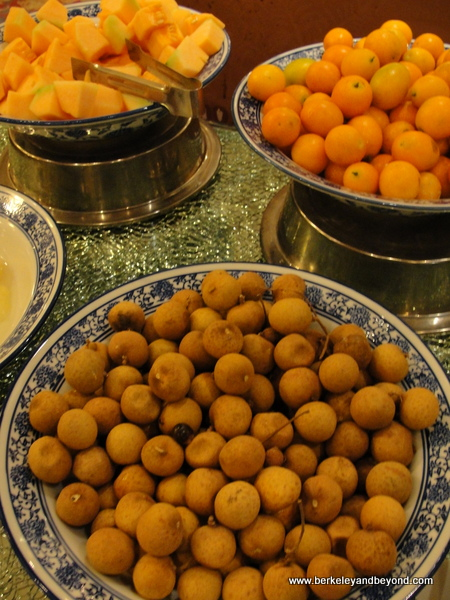 exotic breakfast fruit at Golden Flower Hotel in Xi'an, China