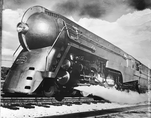 Black & White Photographs of Transport in the Past ... Henry Dreyfuss Train