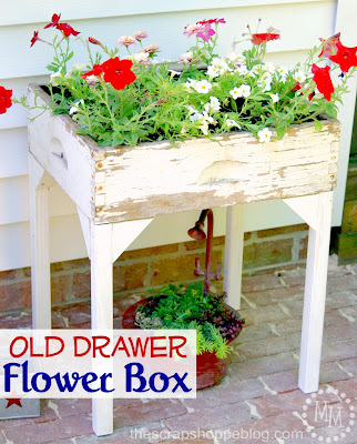 diy old drawer to flower planter