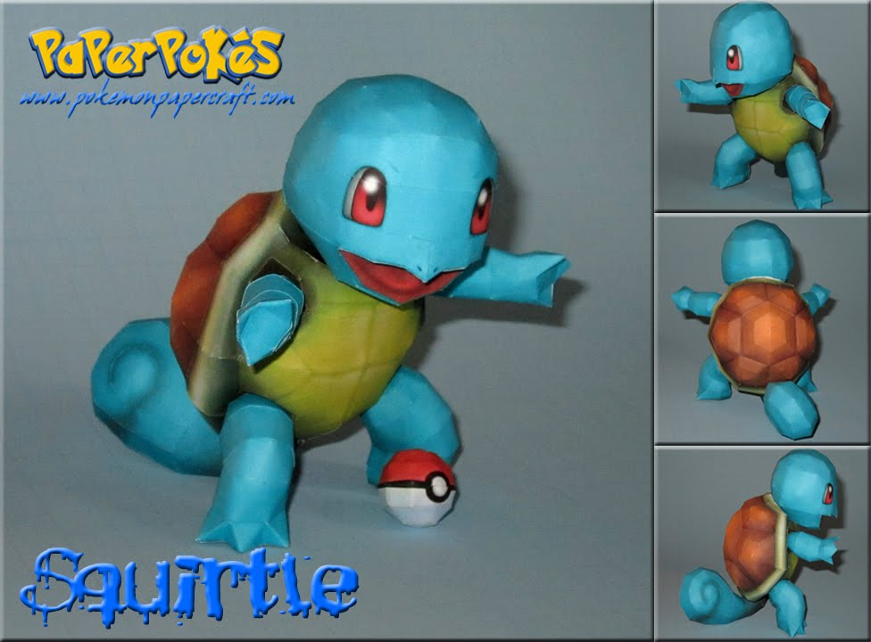 How to make a paper squirtle