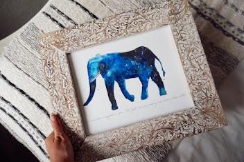 Elephant Universe Art Print