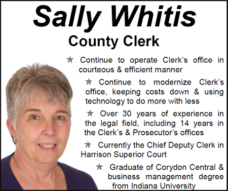 Sally Whitis for Clerk