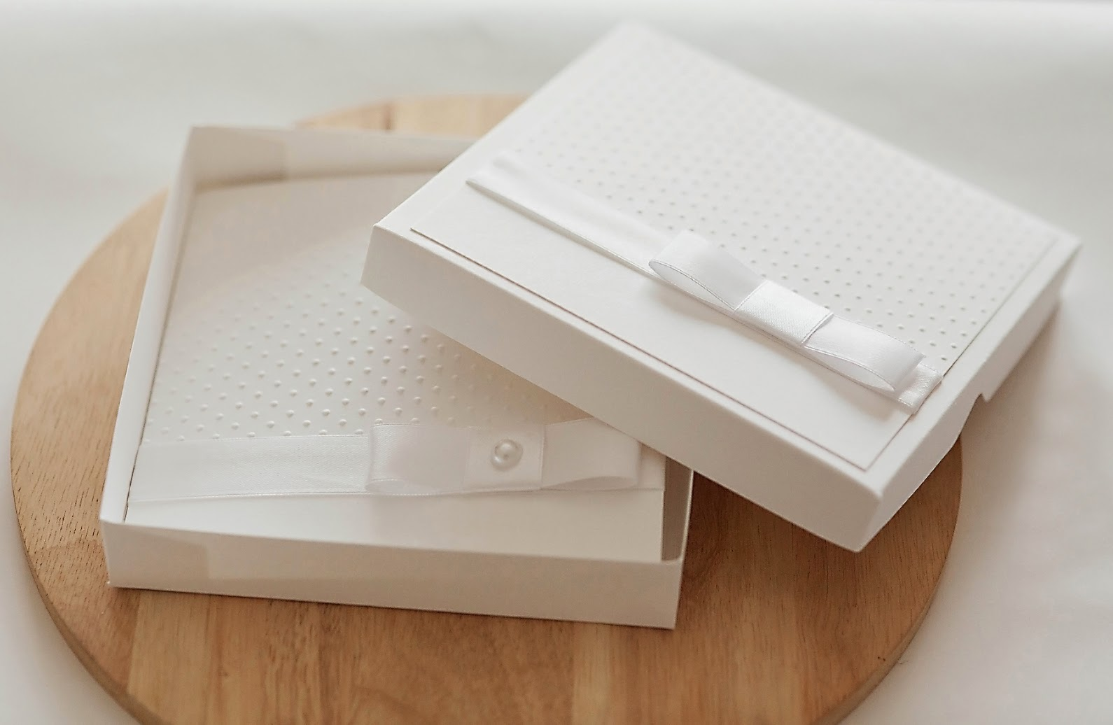All White Boxed Wedding Invitation