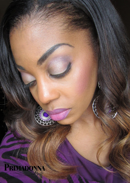 How to wear what to wear with purple lipstick make up Covergirl Outlast 3 in 1 Foundation Tawny Naked 2 Palette BH Cosmetics 88 Matte Palette
