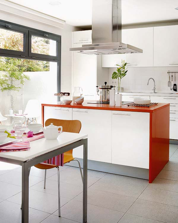 Kitchen Island Accent Color: Mix And Chic: Creating Interest Using Accents In All White