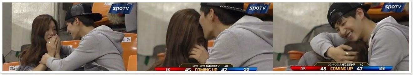 《精靈夫婦》看籃球賽!意外上演KISS秀