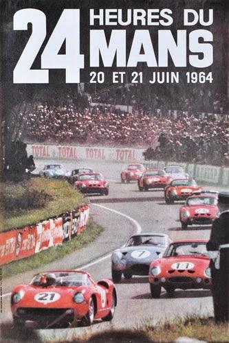 Affiche officielle des 24 Heures du Mans 1964
