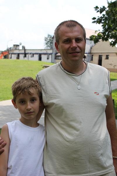 Marek i tata