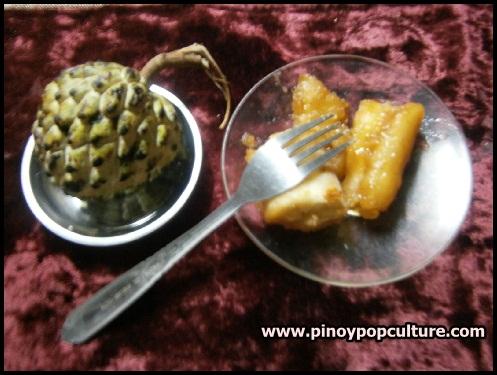 dessert, atis, sugar-apple, sweetsop, Annona squamosa, cassava, Manihot esculenta