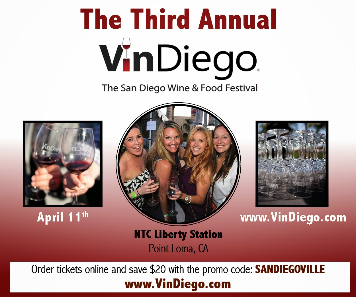 Save $20 on VinDiego Tickets!
