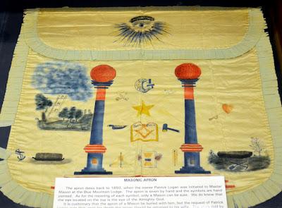 Hand-sewn Masonic Apron