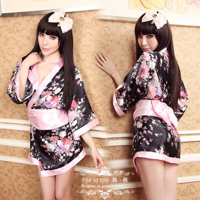 Model dress kimono Jepang Seksi Gratis Ongkir